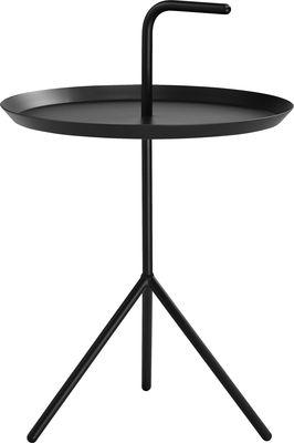 Möbel - Couchtische - Don't leave Me XL Couchtisch / Ø 48 x H 49 cm - Hay - Schwarz - lackierter Stahl