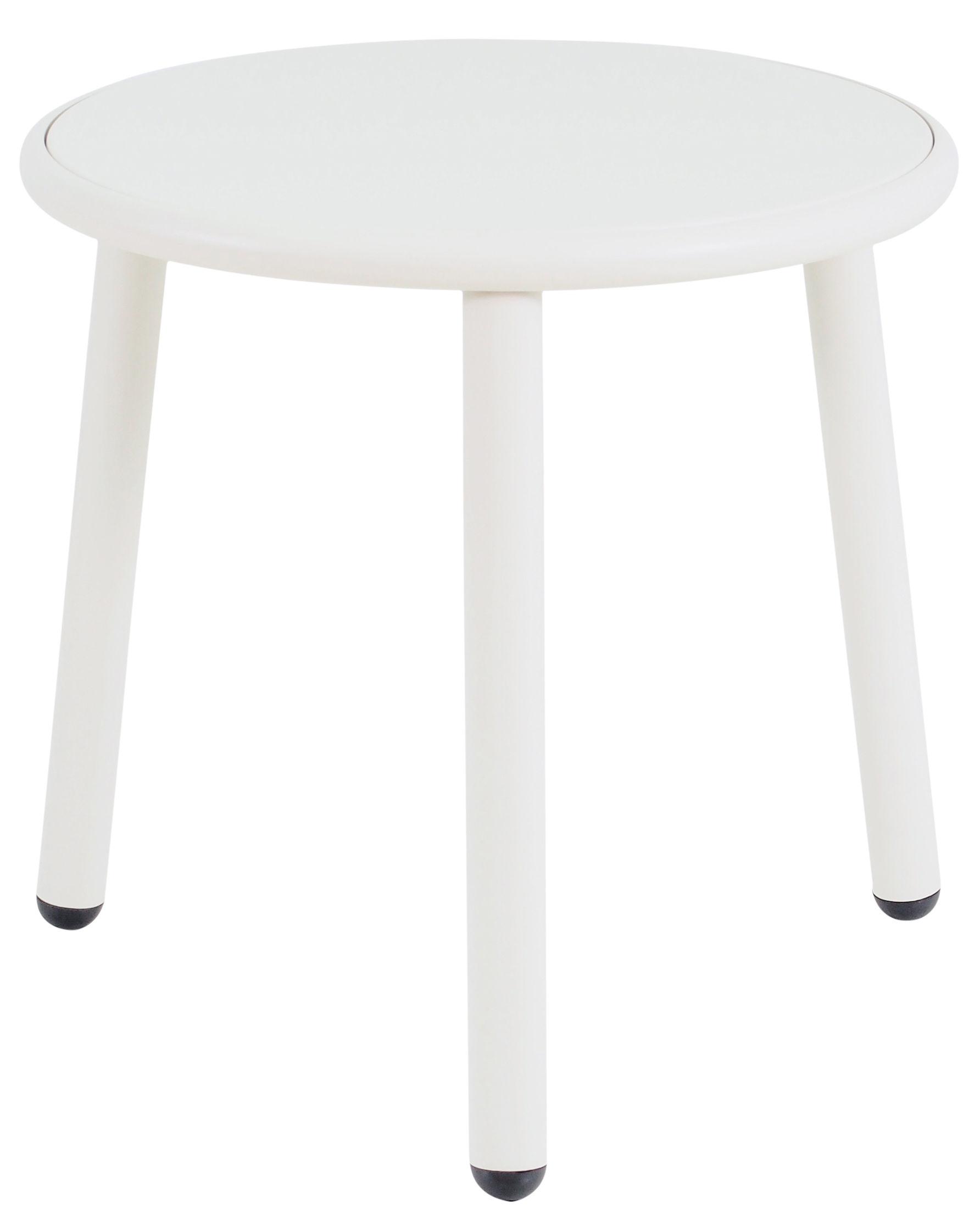 Möbel - Couchtische - Yard Couchtisch / Ø 50 cm - Emu - Weiß / Tischplatte weiß - klarlackbeschichtetes Aluminium