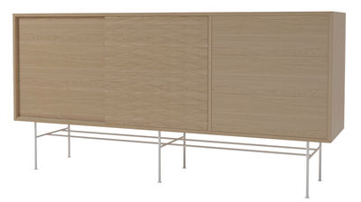 Furniture - Dressers & Storage Units - Case Dresser - L 151 / 2 doors + 3 drawers by Bolia - Oak / White - Lacquered steel, Oak plywood