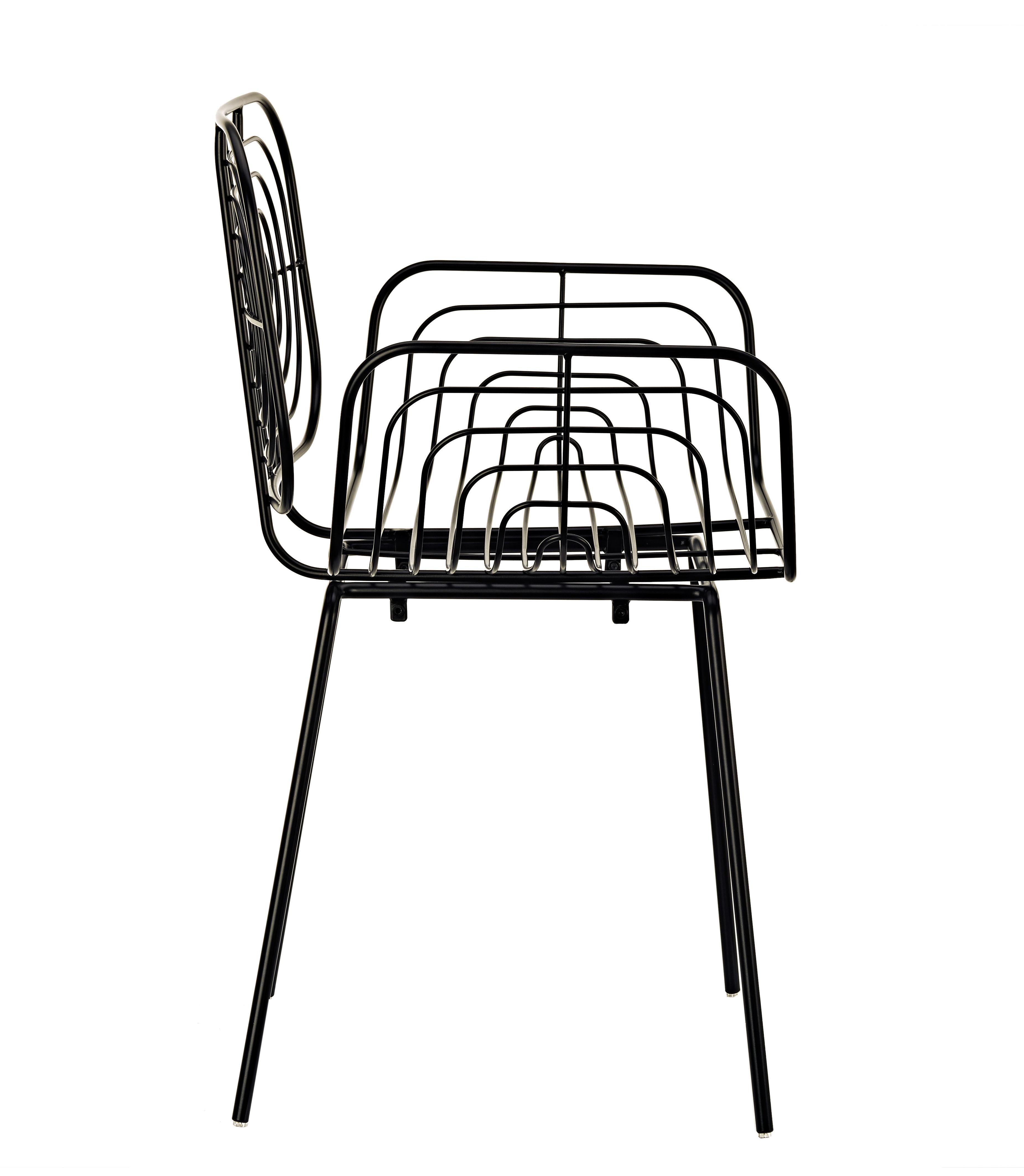 fauteuil boston m tal noir pols potten made in design. Black Bedroom Furniture Sets. Home Design Ideas