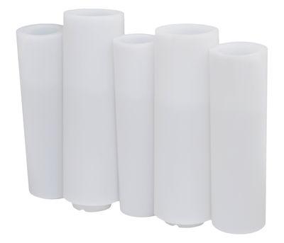Outdoor - Vasi e Piante - Fioriera luminosa Bamboo light - / L 100 x H 80 cm di Slide - Bianco - polietilene riciclabile