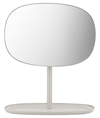 Accessories - Bathroom Accessories - Flip Free standing mirrors by Normann Copenhagen - Sand - Glass, Lacquered steel