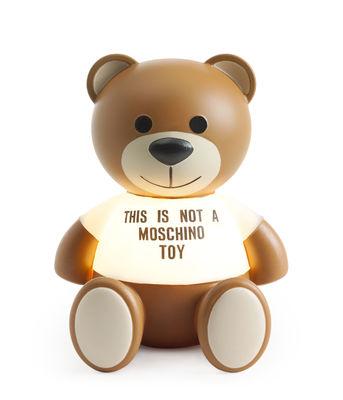 Interni - Per bambini - Lampada da tavolo Toy Moschino LED - / Polietilene di Kartell - Marrone & trasparente - Polietilene dipinto