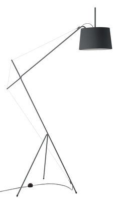 Lampadaire Elisabeth / H 158 cm - Hartô gris ardoise en métal