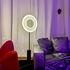 Lampadaire Iris LED / H 140 cm - Tissu & éclairage recto-verso - Dix Heures Dix