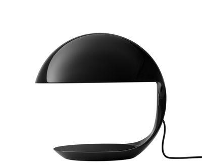 Lampe de table Cobra / 1968 - Martinelli Luce noir en matière plastique