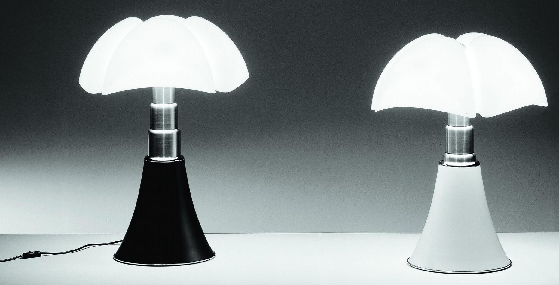 Lampe De Table Pipistrello H 66 A 86 Cm Marron Fonce Abat Jour