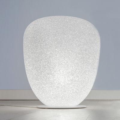 Lampe de table Sumo Medium / H 37 x Ø 32 cm - Lumen Center Italia blanc en matière plastique