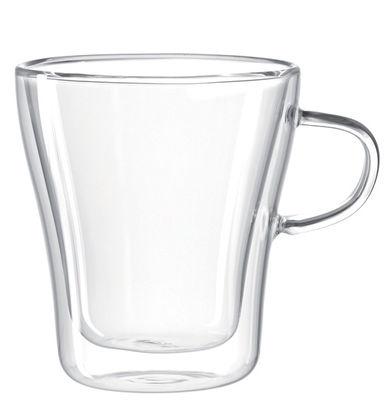 Tableware - Coffee Mugs & Tea Cups - Duo double paroi Mug by Leonardo - Transparent - Glass