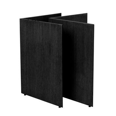 Paire de tréteaux Mingle Large / L 78 cm - Bois - Ferm Living noir en bois