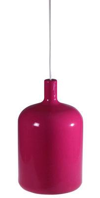 Illuminazione - Lampadari - Sospensione Bulb di Bob design - Rosa- cavo nero - Poliuretano