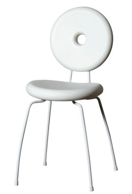 Furniture - Chairs - Ping Pong Pang Stacking chair - Plastic by Serralunga - White - Painted steel, roto-moulded polyhene