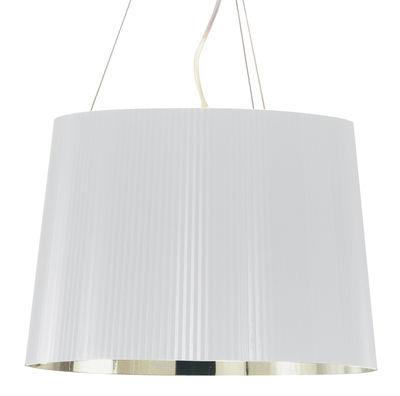 Suspension Gé Metallisé / Ø 37 cm - Matériau recyclé - Kartell blanc/or en matière plastique