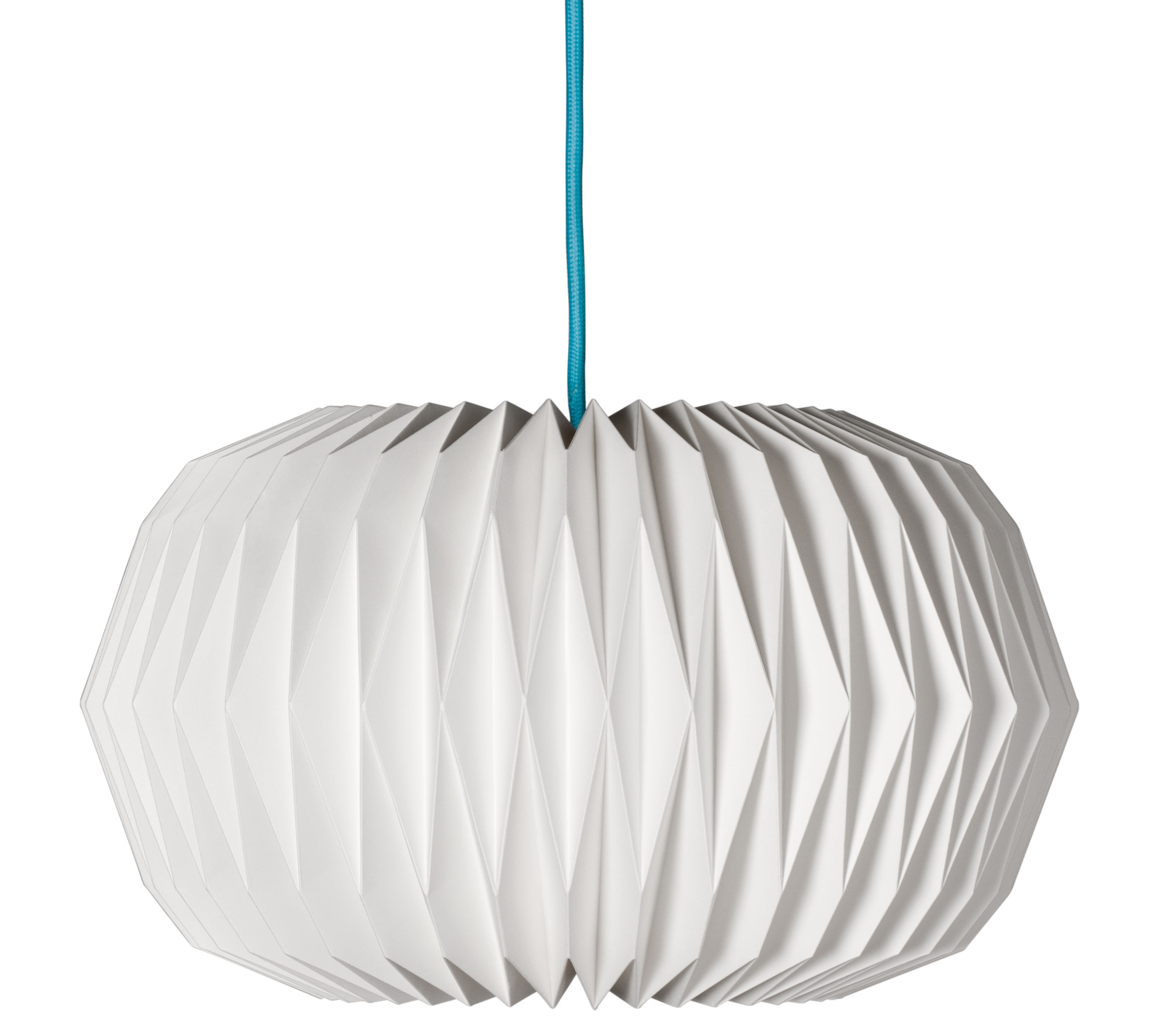 Luminaire - Suspensions - Suspension Paper Velocity Ø 35 x H 20 cm - Made in design Editions - Blanc / Câble noir - Papier