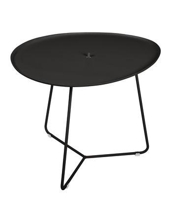 Table basse Cocotte / L 55 x H 43,5 cm - Plateau amovible - Fermob réglisse en métal