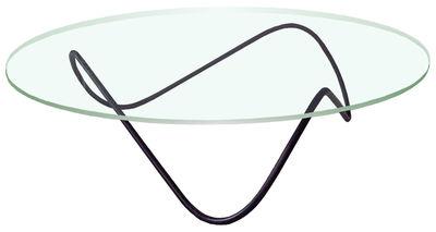 Table basse Kaeko - Objekto noir/transparent en métal/verre