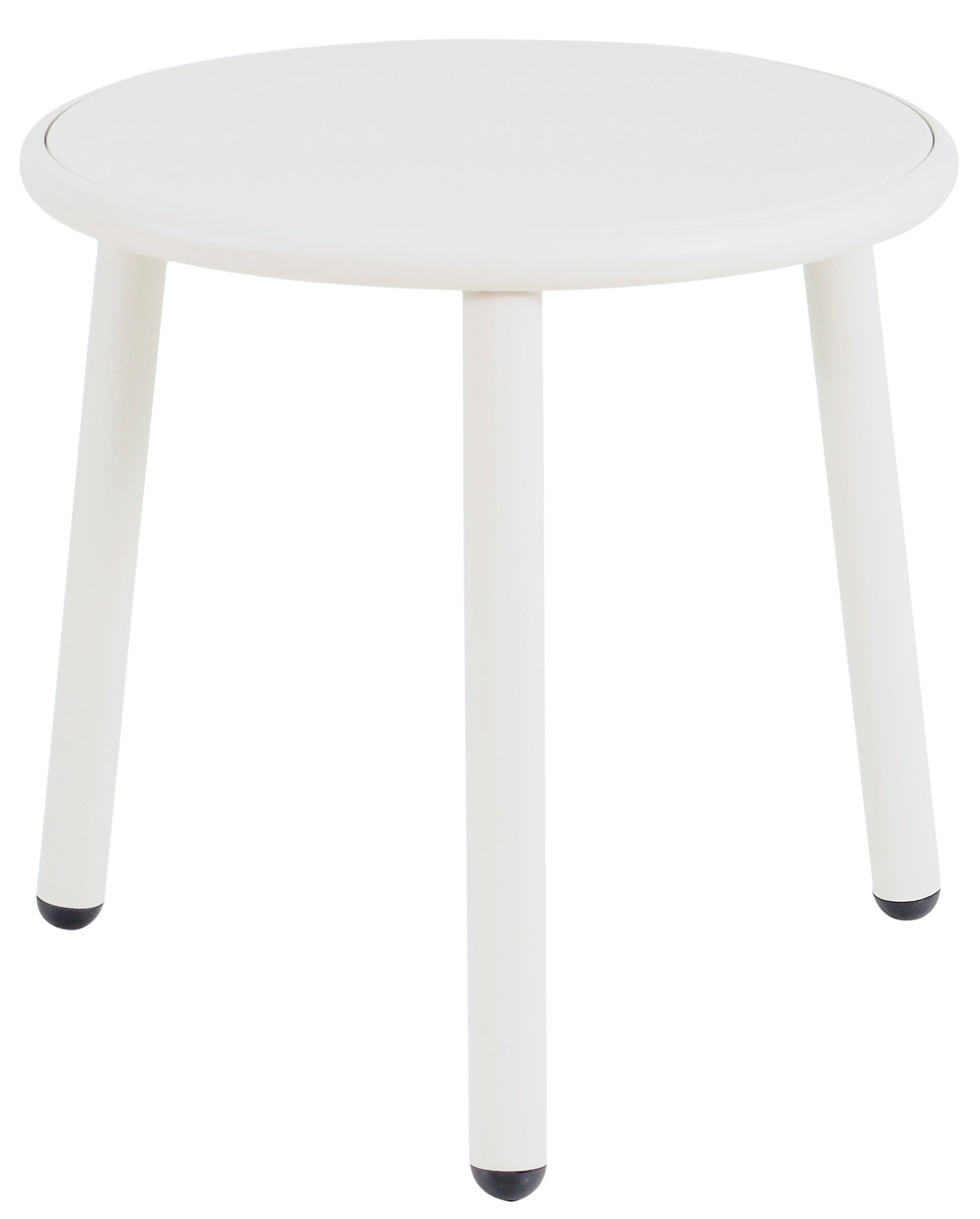 Mobilier - Tables basses - Table basse Yard / Ø 50 cm - Emu - Blanc / Plateau blanc - Aluminium verni