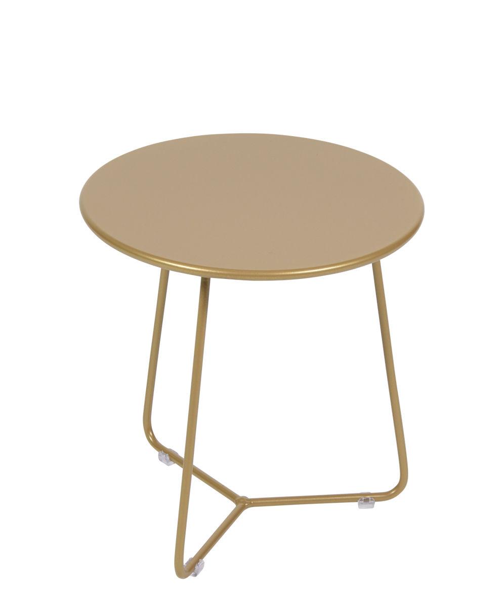 Mobilier - Tables basses - Table d'appoint Cocotte / Tabouret - Ø 34 x H 36 cm - Edition limitée - Fermob - Gold Fever - Acier peint
