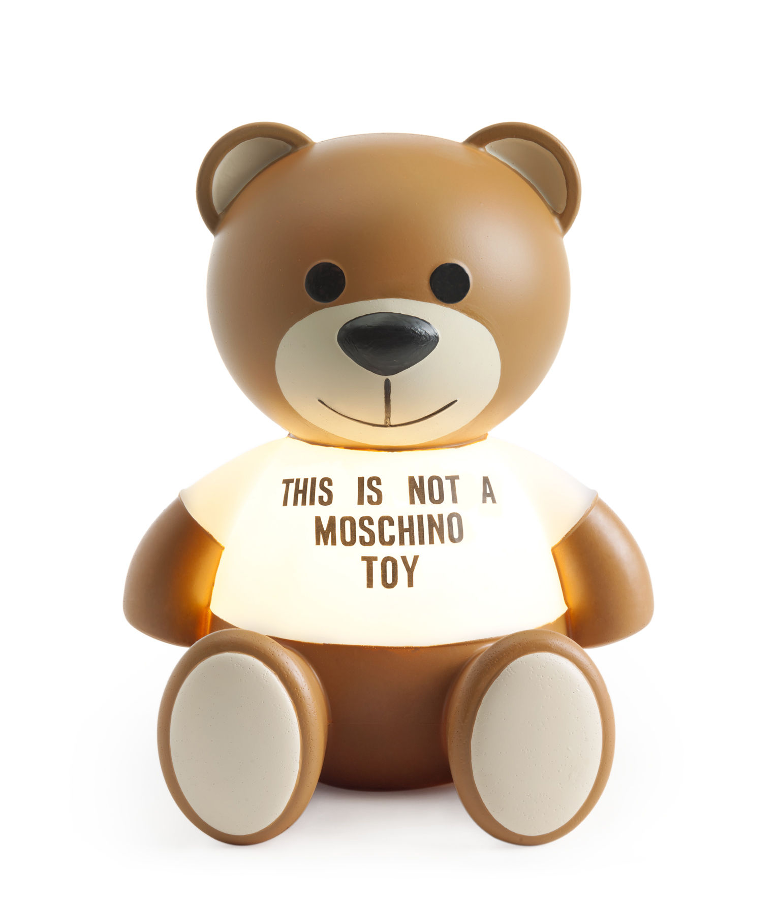 Decoration - Children's Home Accessories - Toy Moschino Table lamp - / Polyethylene by Kartell - Brown & transparent - Polyéthylène peint
