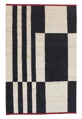 Tapis Mélange - Stripes 1 / 170 x 240 cm - Nanimarquina blanc,rouge,noir en tissu
