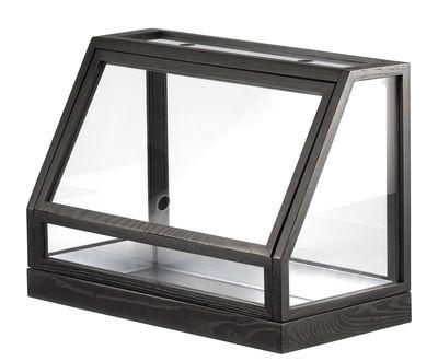 Dekoration - Töpfe und Pflanzen - Greenhouse Mini Terrarium / L 48 x H 34 cm - Design House Stockholm - Grau - Einscheiben-Sicherheitsglas, galvanisierter Stahl, getönte Esche