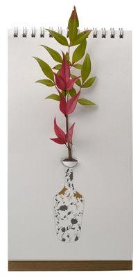 Vase Flip / Papier - Pa Design blanc,marron,noir en papier