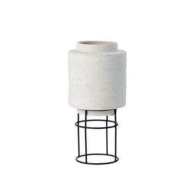 Image of Vaso per fiori Botanique - / Ø 22,4 x H 47 cm - Ceramica di Bolia - Grigio - Ceramica