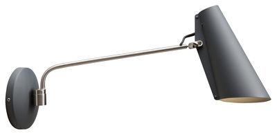 Birdy Wandleuchte mit Stromkabel / L 53 cm - Neuauflage des Originals von 1952 - Northern - Grau,Stahl
