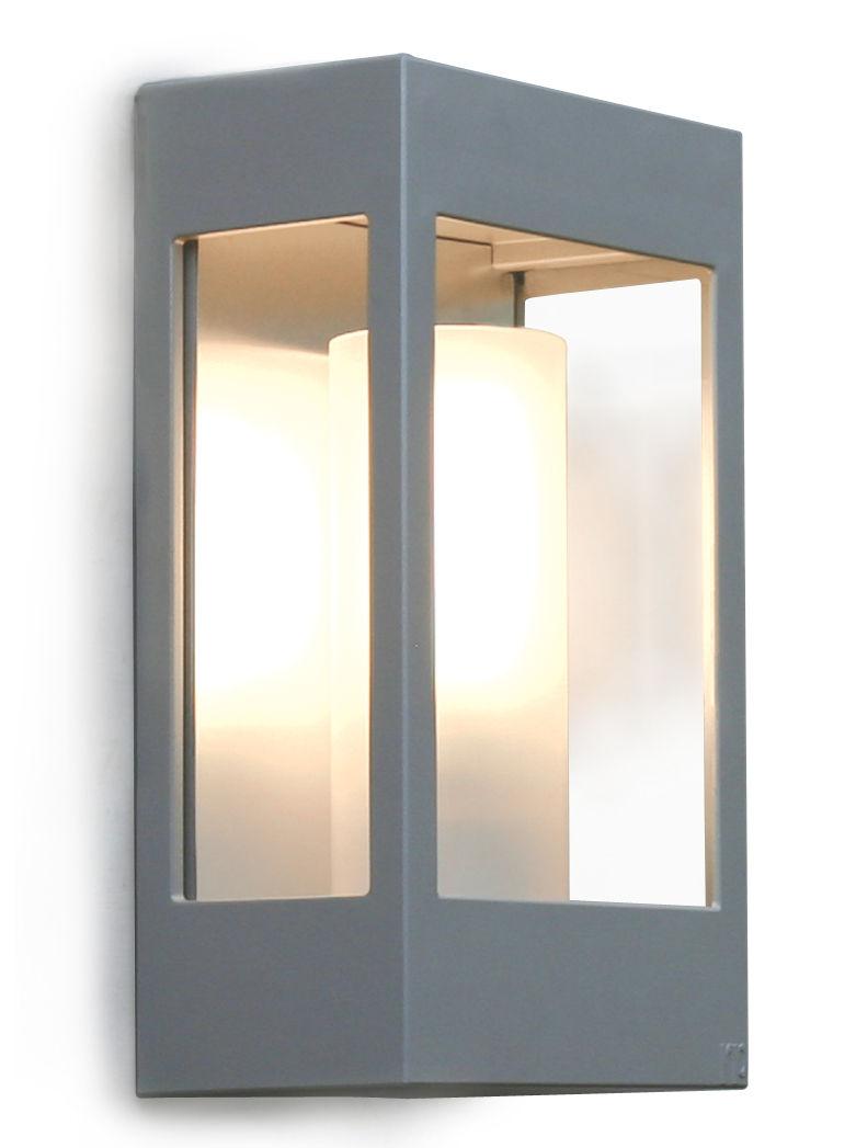 Luminaire - Appliques - Applique d'extérieur Brick - Roger Pradier - Gris métal - Aluminium, PMMA, Verre