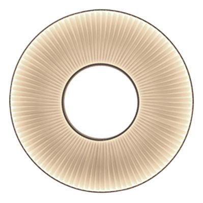 Applique Iris LED / Ø 80 cm - Tissu blanc - Dix Heures Dix blanc en métal