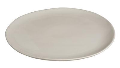 Assiette Bazelaire Ø 26cm - Faïence émaillée - Sentou Edition blanc cassé en céramique