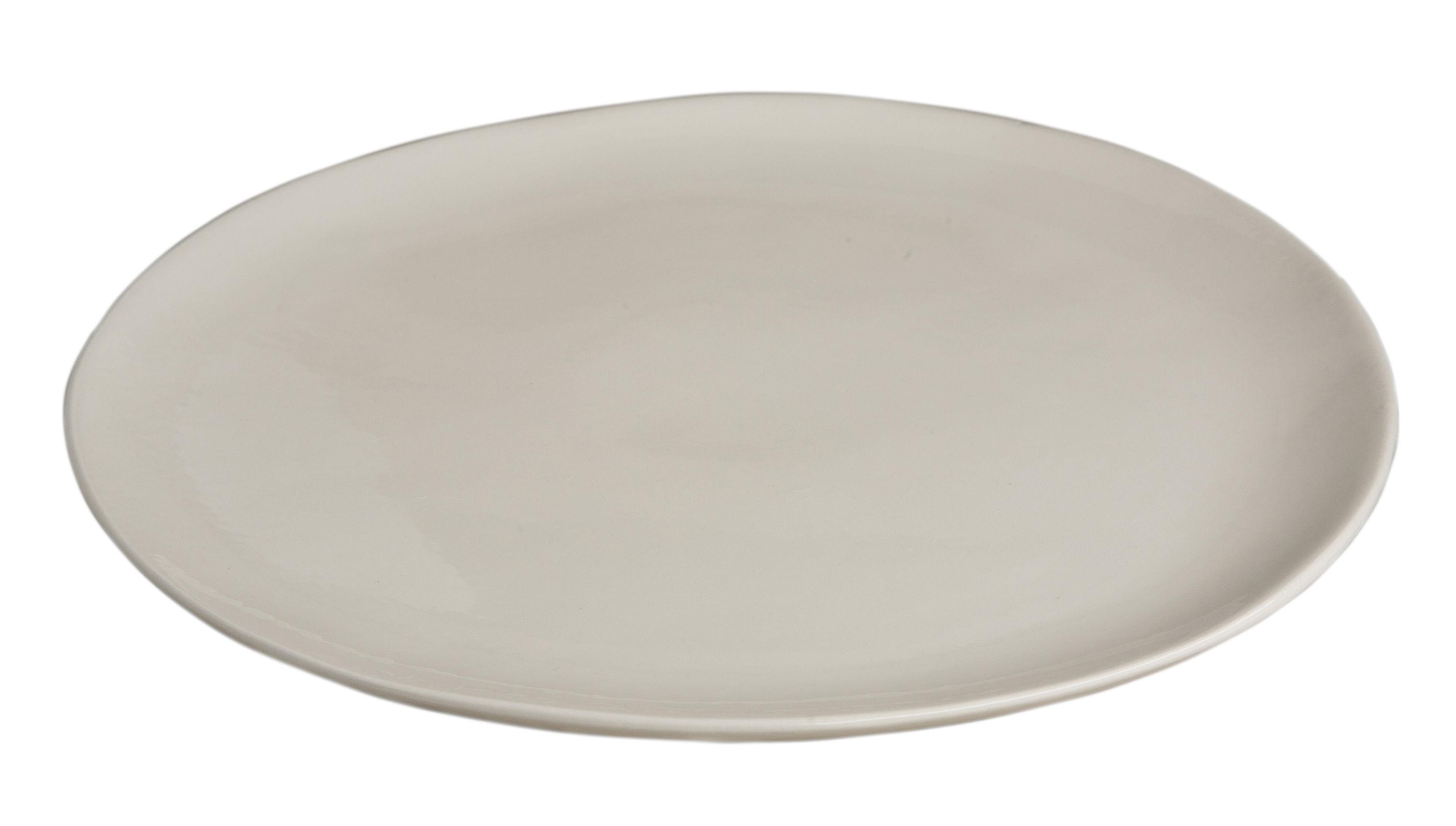 Arts de la table - Assiettes - Assiette Bazelaire / Ø 26cm - Fait main - Sentou Edition - Blanc cassé - Faïence émaillée