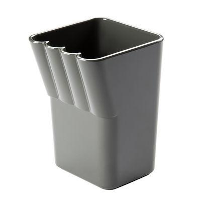 Dekoration - Badezimmer - Kali Behälter für Zahnbürsten - Authentics - Dunkelgrau - Melamin