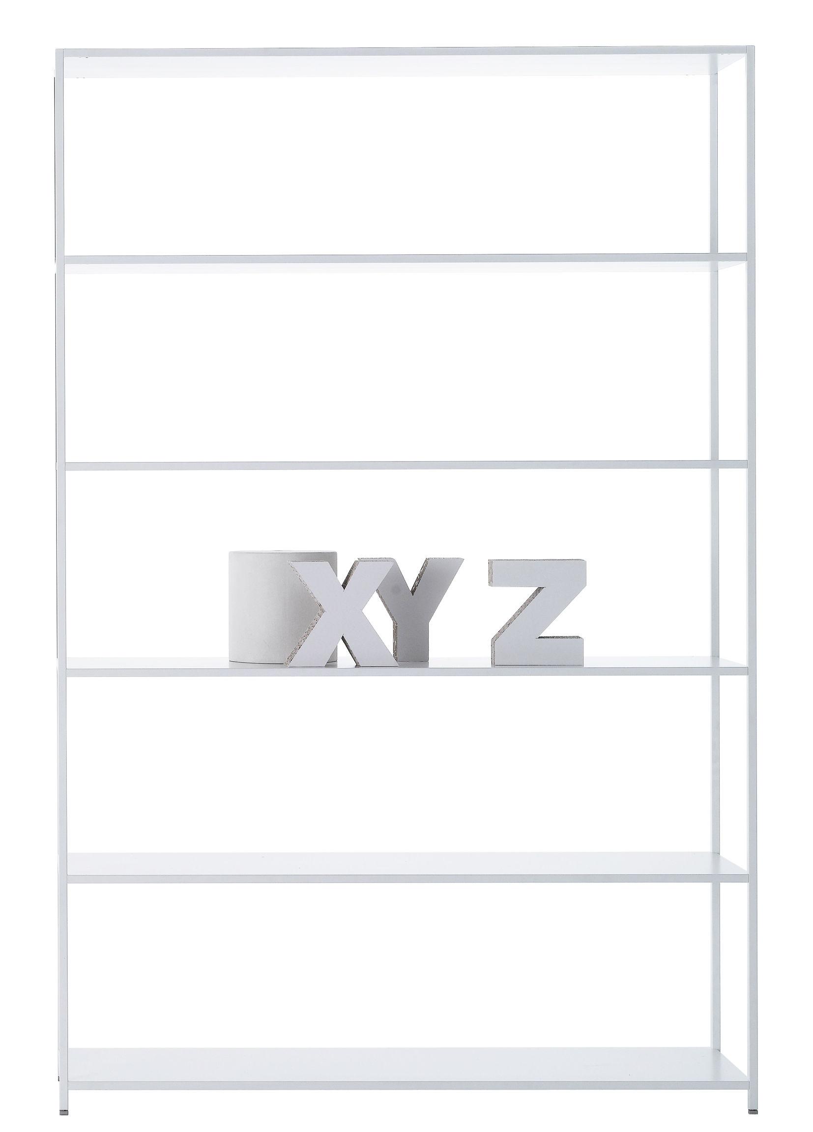 Mobilier - Etagères & bibliothèques - Bibliothèque Minima 3.0 / L 120 x H 188 cm - MDF Italia - Blanc - Aluminium