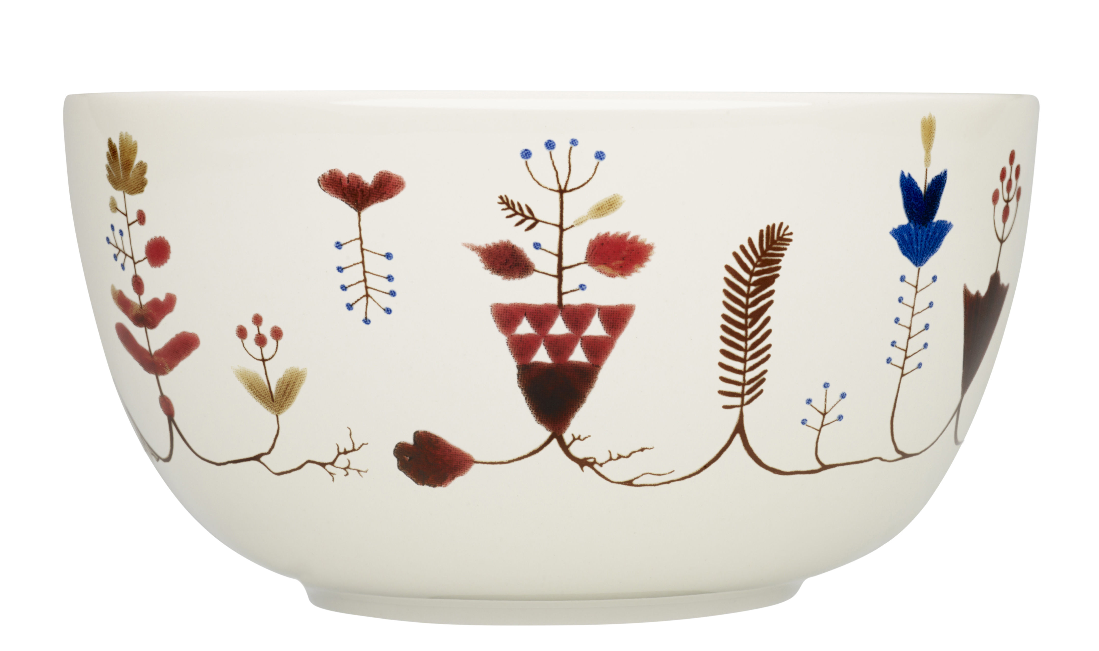 Arts de la table - Saladiers, coupes et bols - Bol Varpu / 33 cl - Iittala - Blanc / Motifs multicolores - Céramique