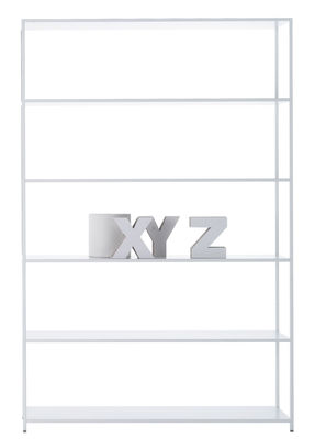 Möbel - Regale und Bücherregale - Minima 3.0 Bücherregal / L 120 cm x H 188 cm - MDF Italia - Weiß - Aluminium