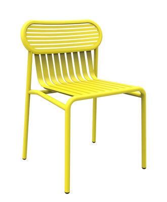 Mobilier - Chaises, fauteuils de salle à manger - Chaise Week-end / Aluminium - Petite Friture - Jaune - Aluminium thermolaqué époxy