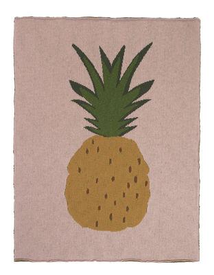 Decoration - Children's Home Accessories - Ananas Children blanket - / 80 x 100 cm - Cotton by Ferm Living - Pineapple / Pink - Cotton