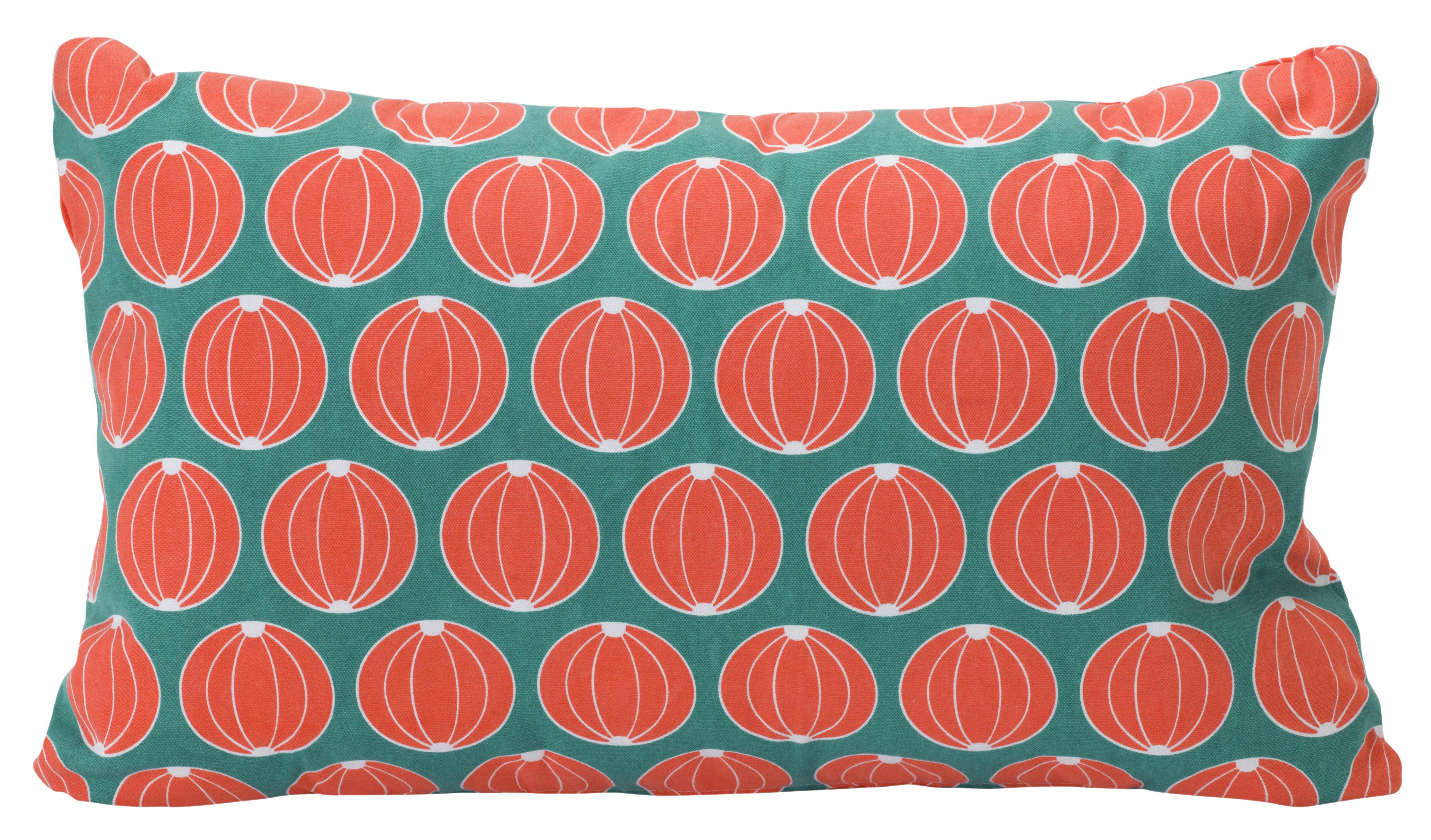 Interni - Cuscini  - Cuscino Melon / 68 x 44 cm - Per esterno - Fermob - Turchese - Cotone