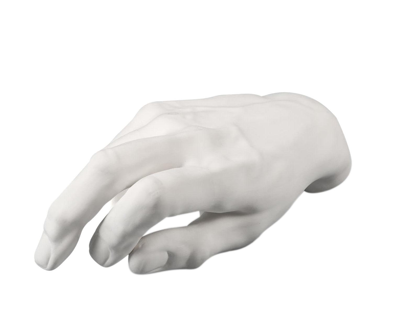 Interni - Oggetti déco - Decorazione Memorabilia Mvsevm - / Mano mascolina di Seletti - Mano uomo / Bianco - Porcellana