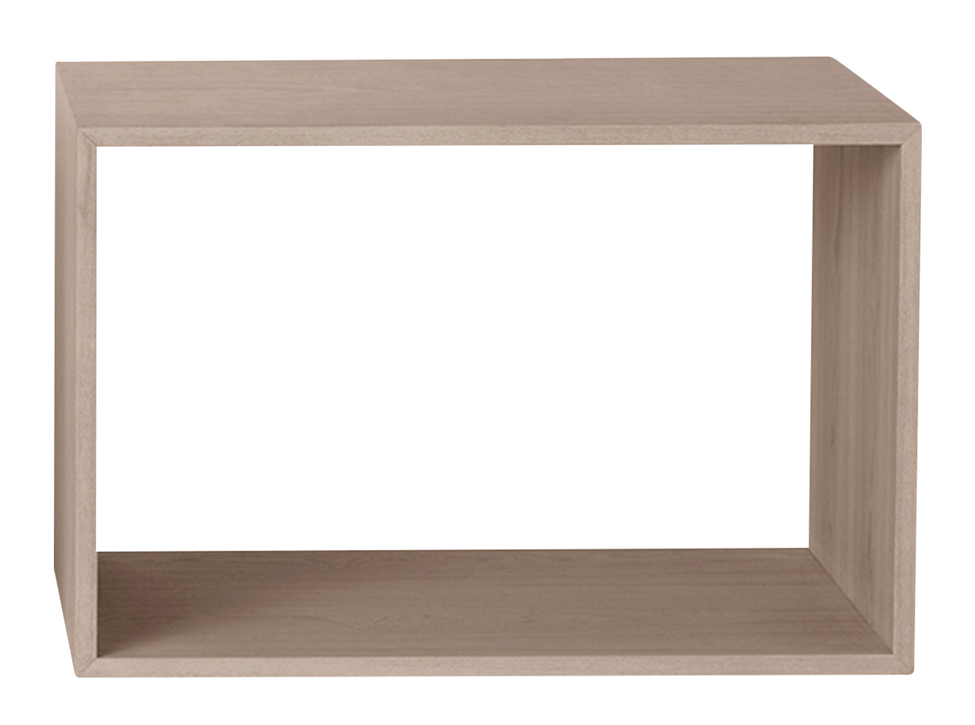 Mobilier - Etagères & bibliothèques - Etagère Stacked 2.0 / Large rectangulaire 65x43 cm / Sans fond - Muuto - Chêne - MDF placage chêne