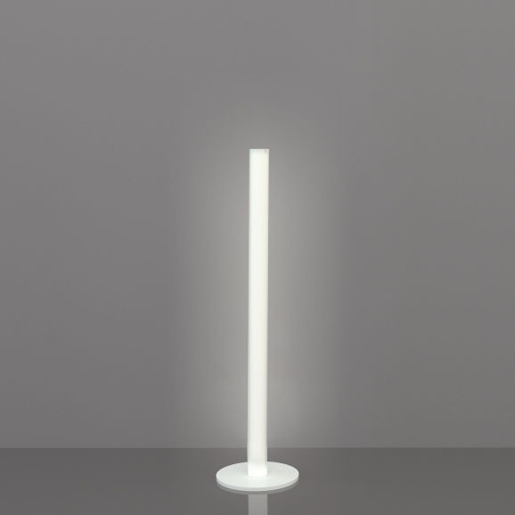Lighting - Floor lamps - Flux Floor lamp - / H 124 cm by Slide - H 124 cm / White - Lacquered metal, Methacrylate