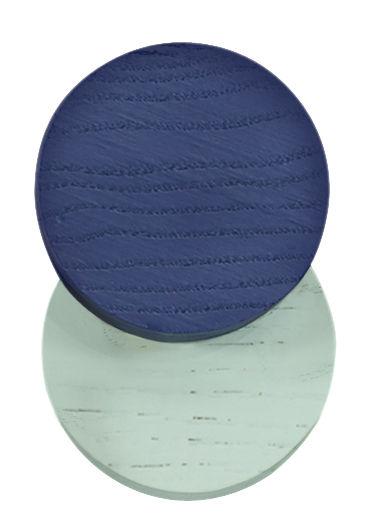 Furniture - Coat Racks & Pegs - Lou Hook - Ø 7 cm by Hartô - Navy blue / Pastel green - Natural beechwood