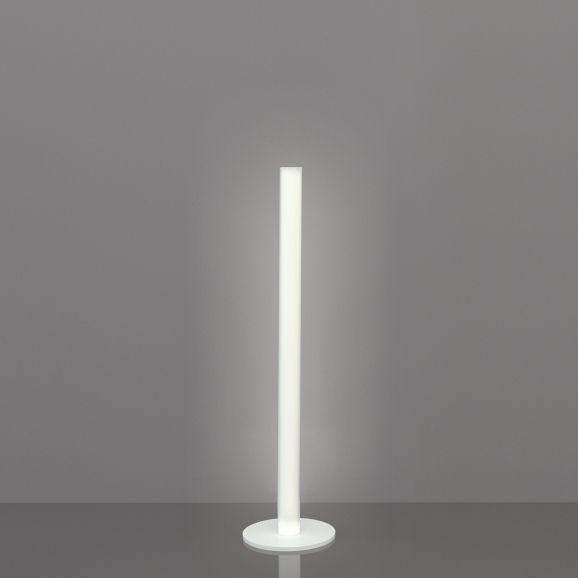 Illuminazione - Lampade da terra - Lampada a stelo Flux - / H 124 cm di Slide - H 124 cm / Bianco - Metacrilato, metallo laccato