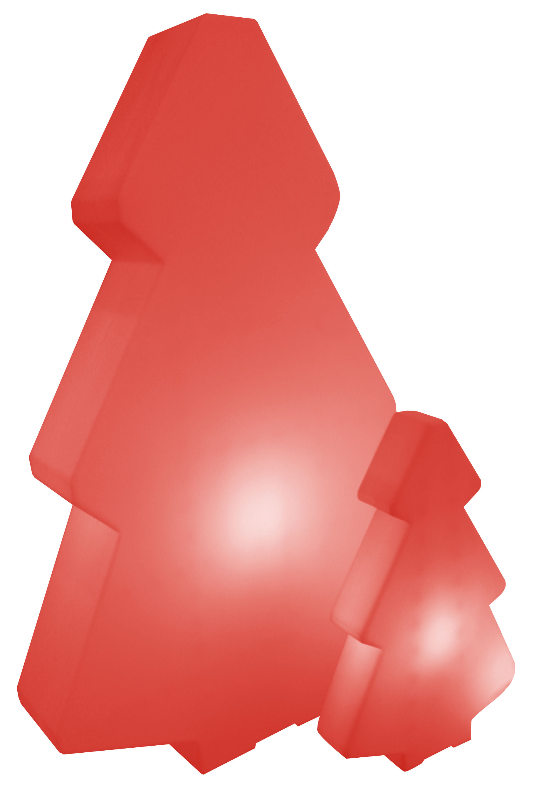 Arredamento - Mobili luminosi - Lampada a stelo Lightree Indoor - per l'interno di Slide - Rosso-interno - polyéthène recyclable