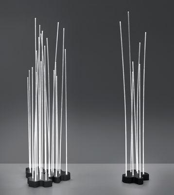 reeds led outdoor lampada a stelo - / 21 steli bianco / base grigio