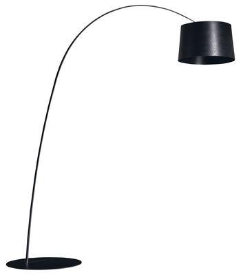 Illuminazione - Lampade da terra - Lampada a stelo Twiggy di Foscarini - Nero - Fibra di vetro, Materiale composito