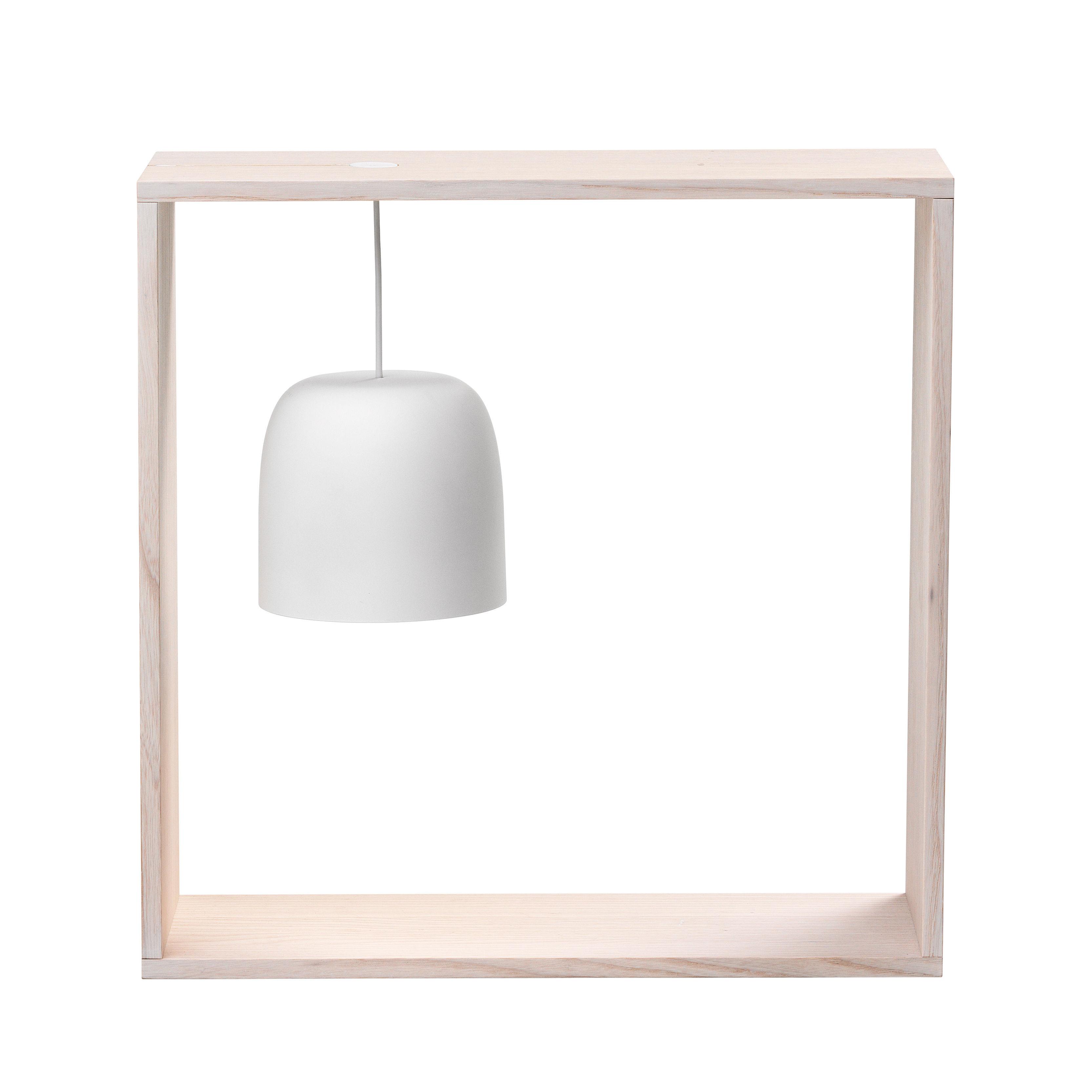 Luminaire - Lampes de table - Lampe Gaku / Diffuseur suspendu - Flos - Frêne / Abat-jour blanc - Frêne massif naturel, Polycarbonate
