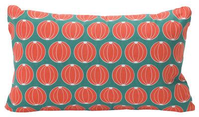 Decoration - Cushions & Poufs - Envie d'ailleurs - Melon Outdoor cushion - 68 x 44 cm - Outdoor by Fermob - Turquoise - Cotton
