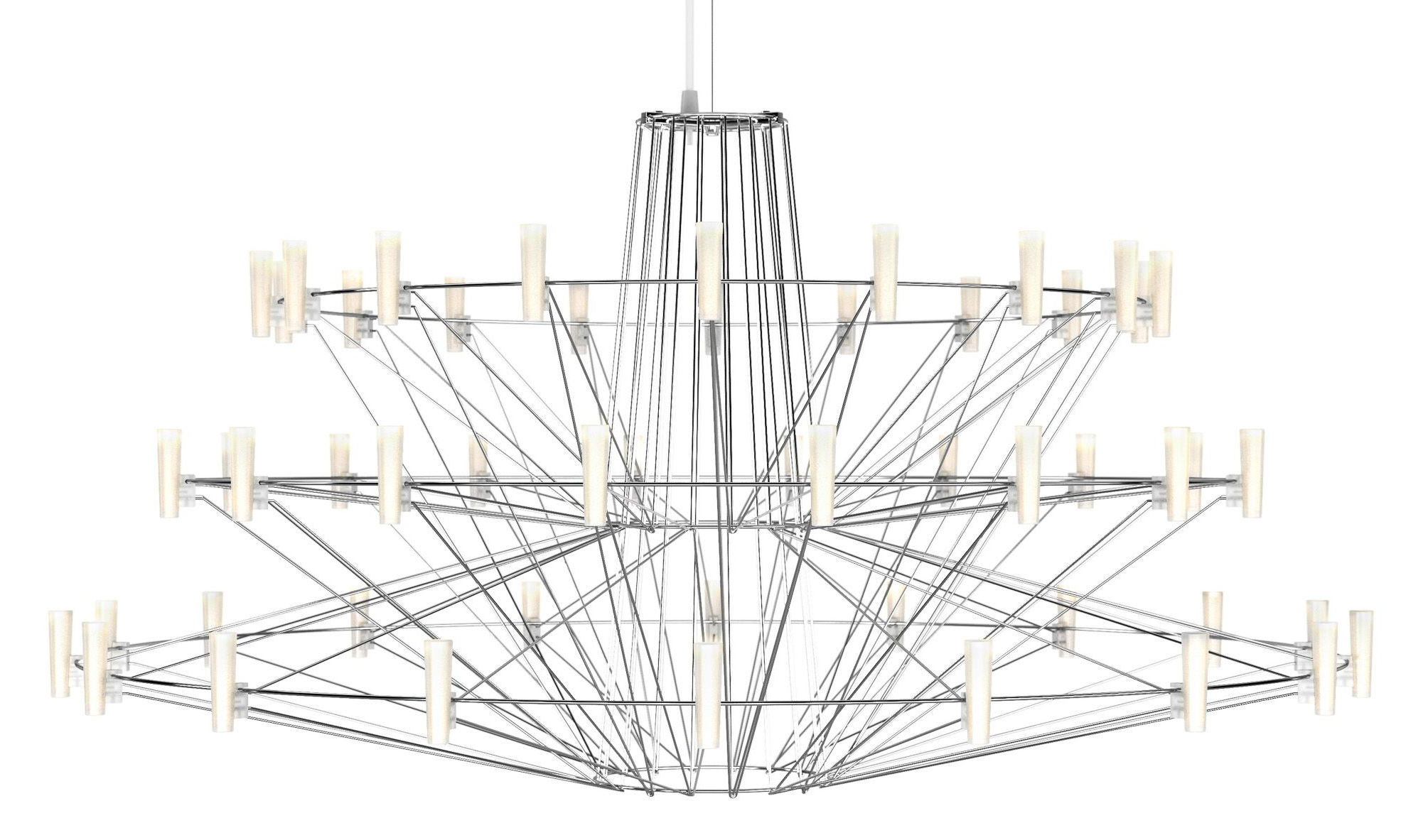 Lighting - Pendant Lighting - Coppélia Large Pendant - LED - Ø 101 x H 54 cm by Moooi - Shiny steel - Polycarbonate, Stainless steel